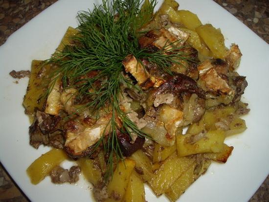 Картошка с куриной печенкой в мультиварке – готовим вкусный обед 4