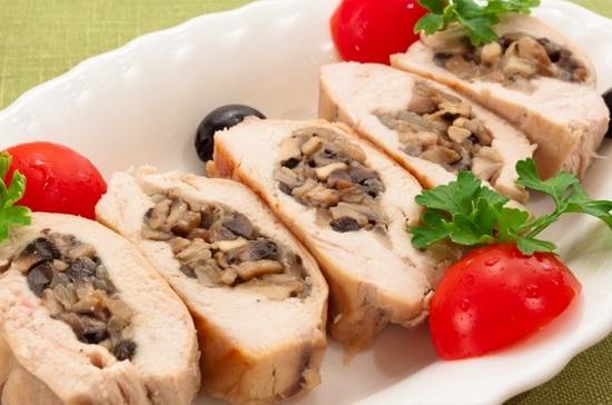 Блюда из филе курицы в мультиварке с цветной капустой и шампиньонами 4