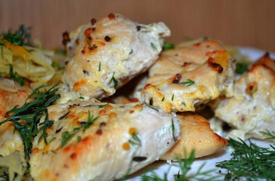 Куриное филе в сметане, кефире, сливках, с сыром, в томатном соусе - в мультиварке 2
