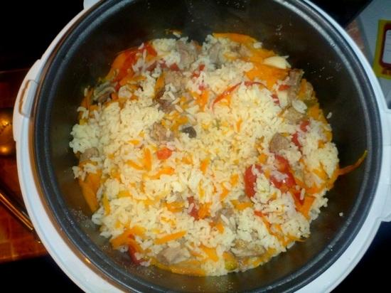какая пропорция риса и воды для плова