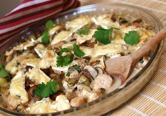 Блюда из филе курицы в мультиварке с цветной капустой и шампиньонами 3