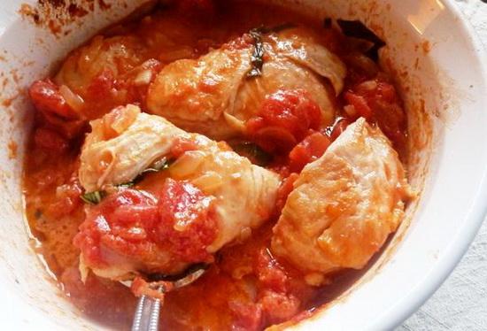 Куриное филе в сметане, кефире, сливках, с сыром, в томатном соусе - в мультиварке 4